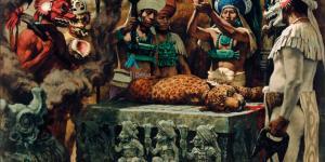 """""""Mayan Sacrifice"""" Artwork by Thomas Hall"""