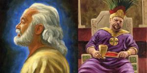 Abinadi and King Noah by James Fullmer