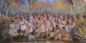 Lamanite Daughters by Minerva Teichert